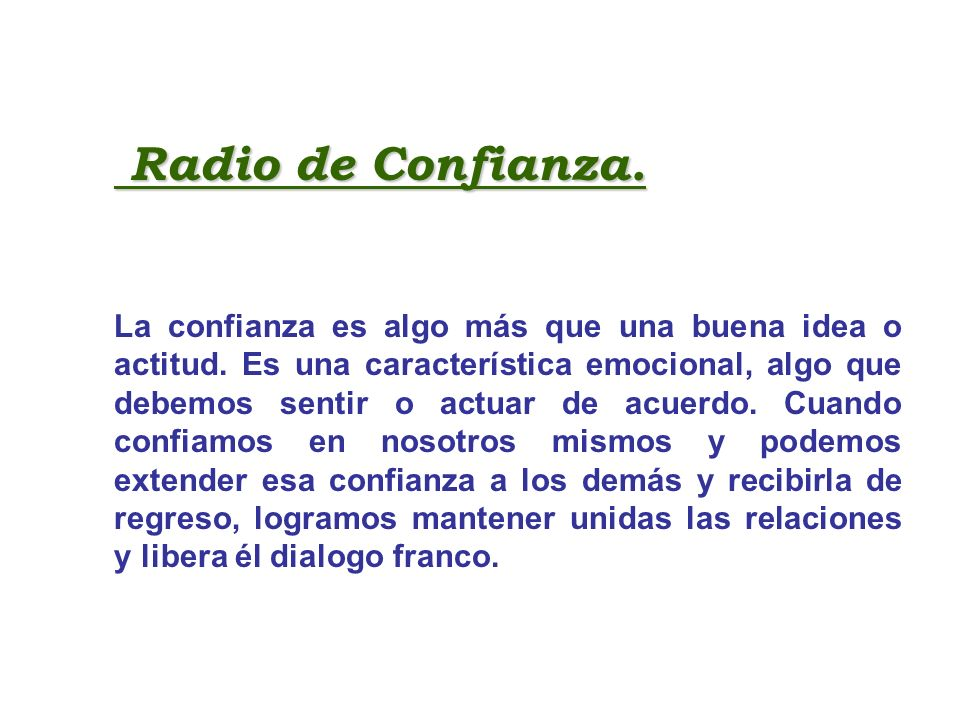 Radio de Confianza.
