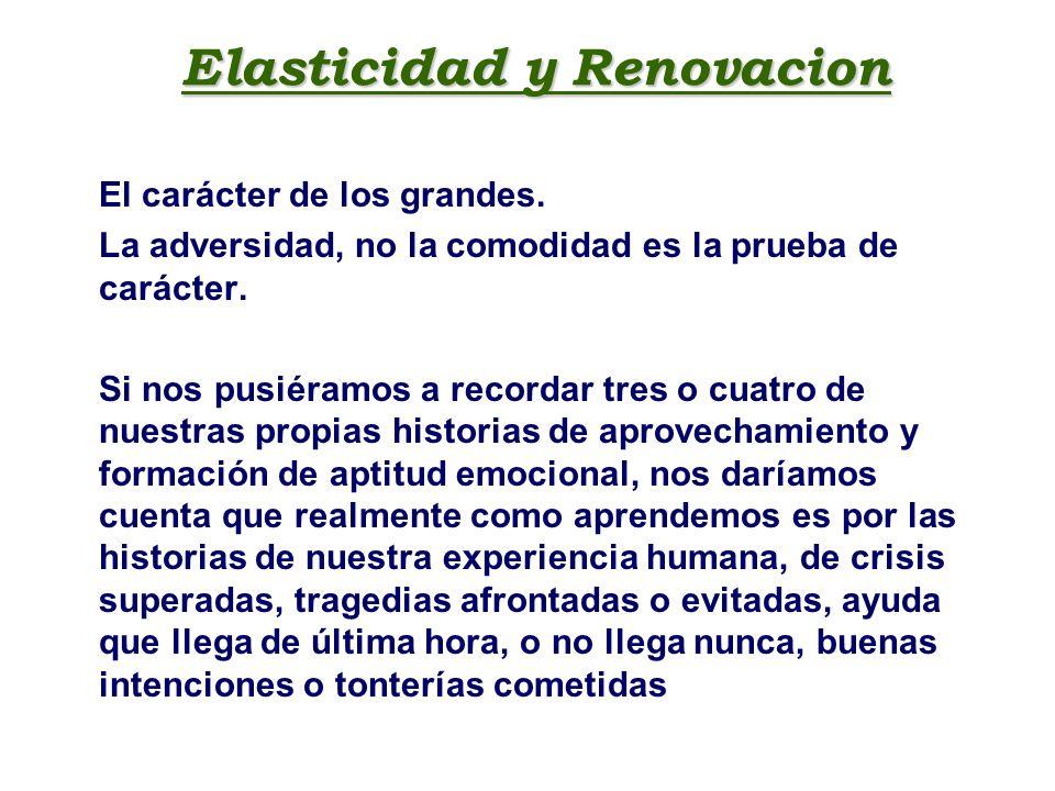 Elasticidad y Renovacion