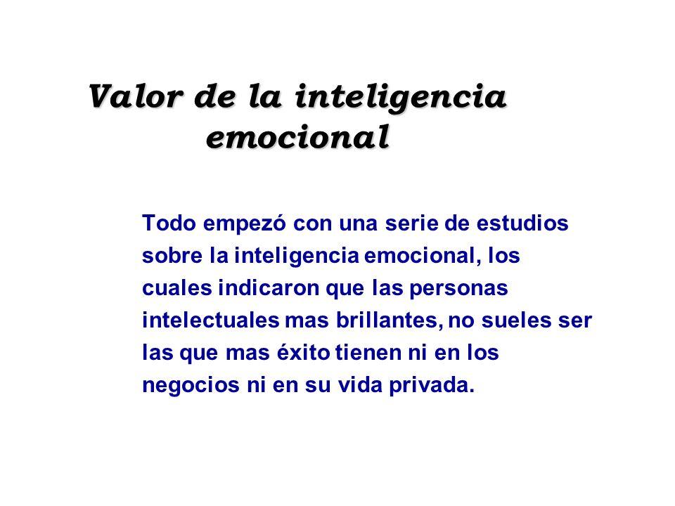 Valor de la inteligencia emocional