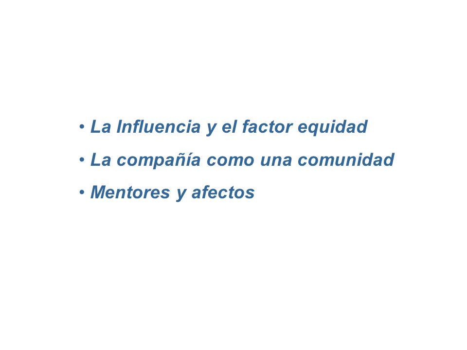 La Influencia y el factor equidad