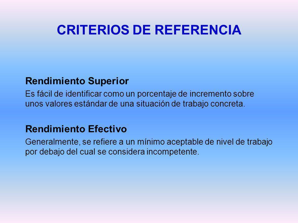 CRITERIOS DE REFERENCIA