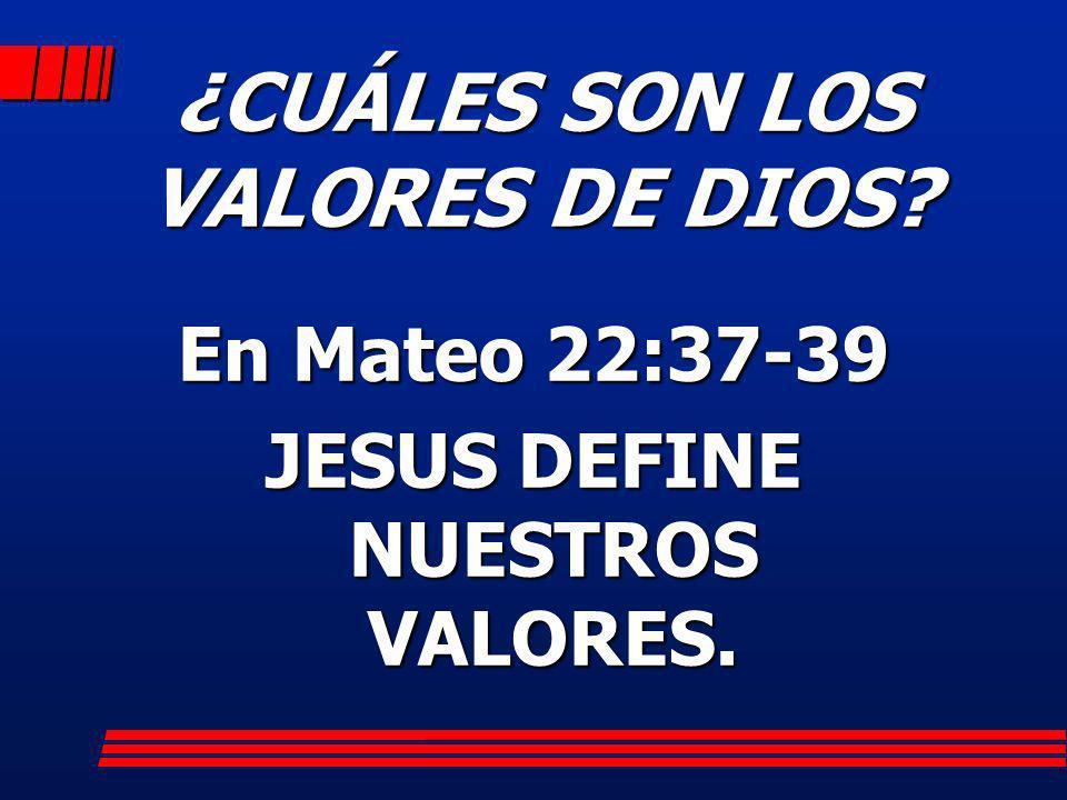 ¿CUÁLES SON LOS VALORES DE DIOS
