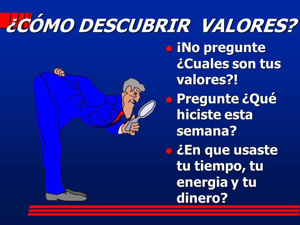 ¿CÓMO DESCUBRIR VALORES