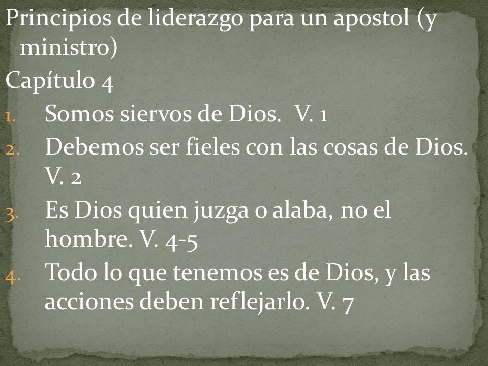 Principios de liderazgo para un apostol (y ministro)