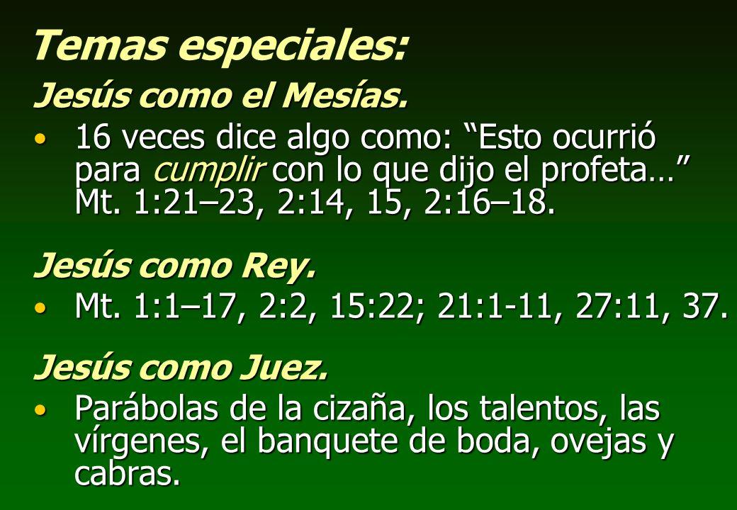 Temas especiales: Jesús como el Mesías.