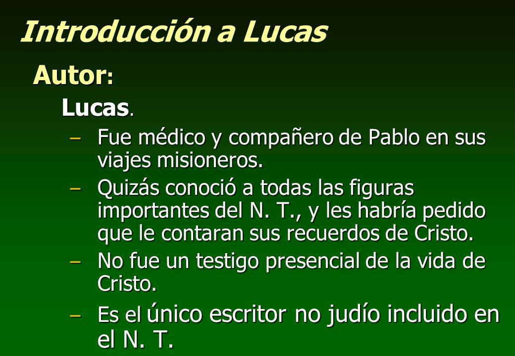 Introducción a Lucas Autor: Lucas.