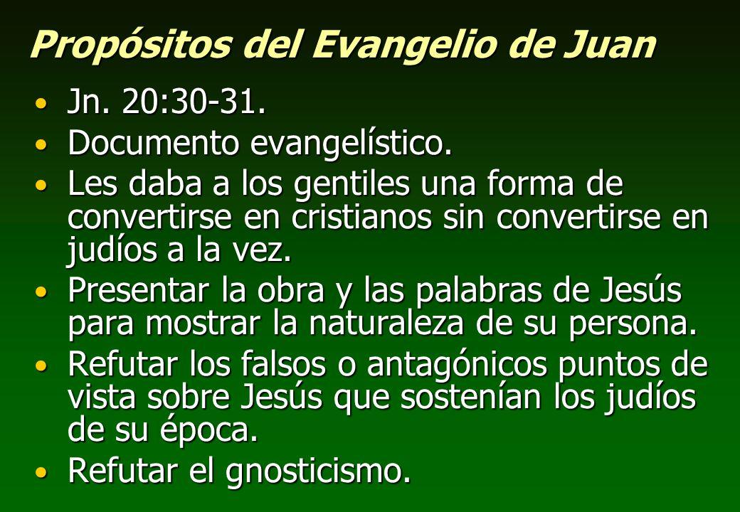 Propósitos del Evangelio de Juan