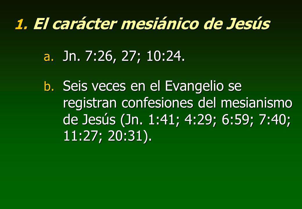 El carácter mesiánico de Jesús