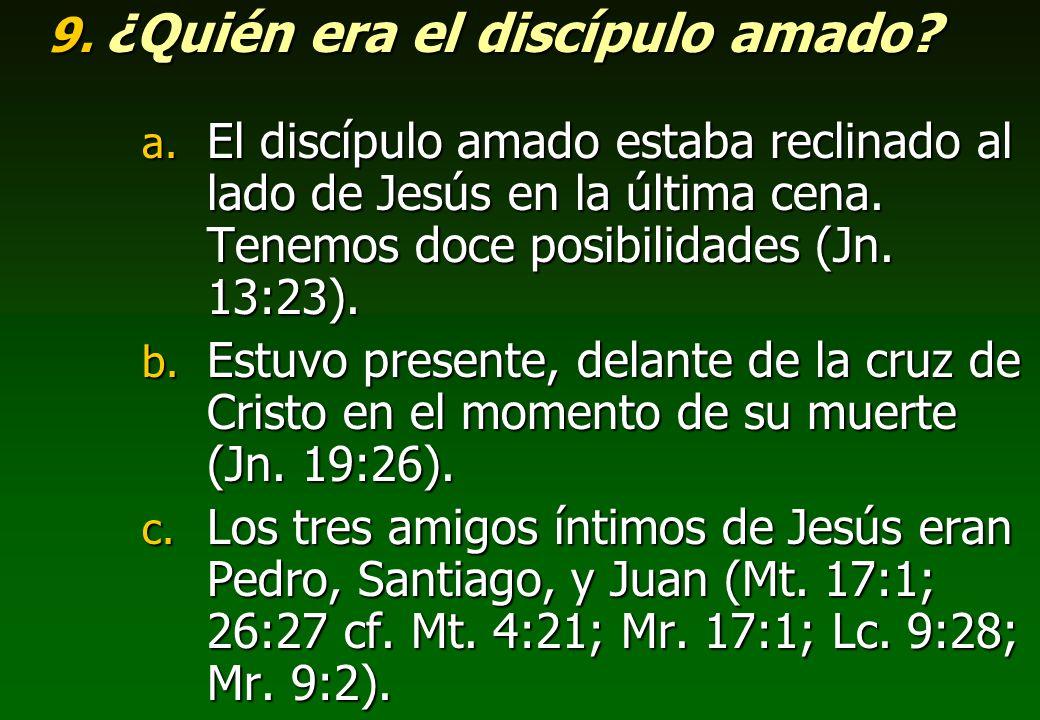 ¿Quién era el discípulo amado