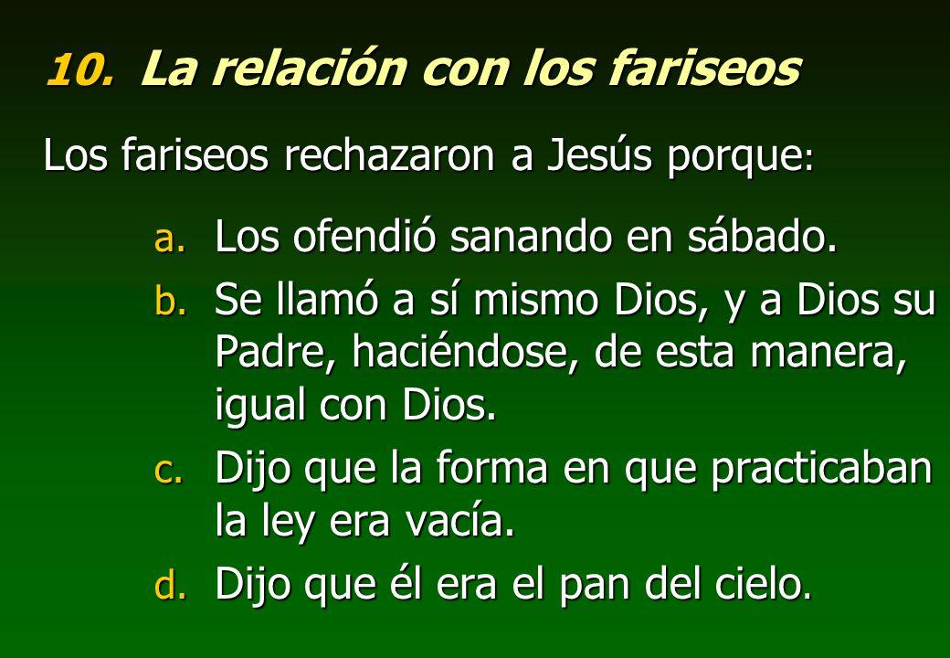 La relación con los fariseos