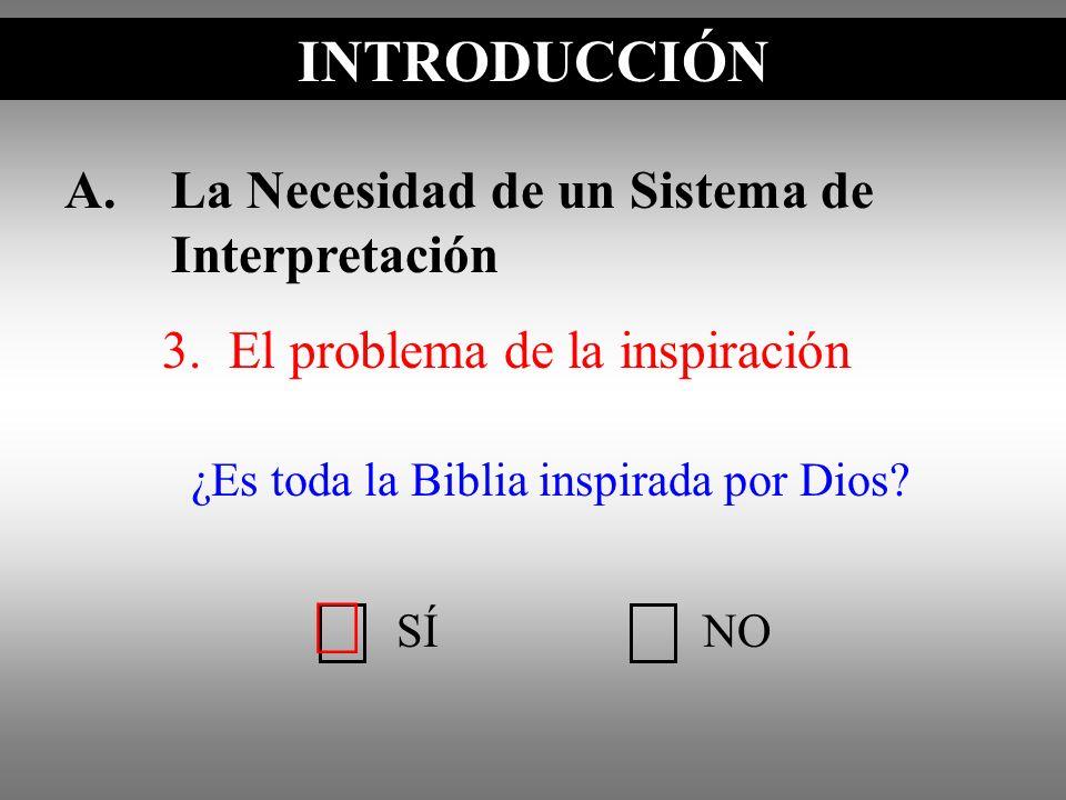 ¿Es toda la Biblia inspirada por Dios