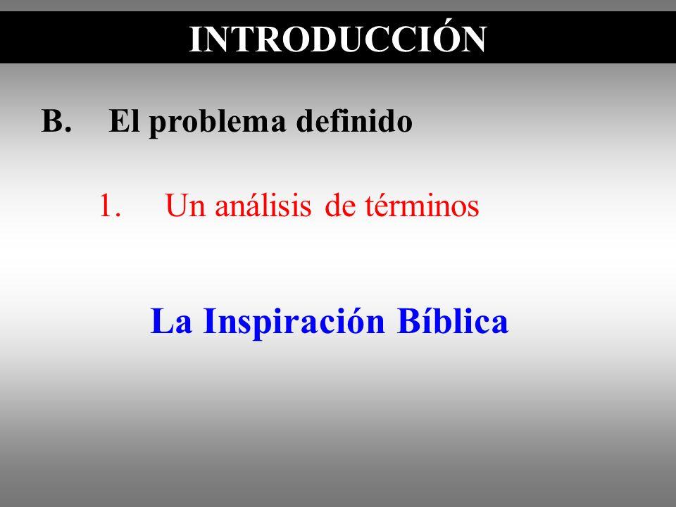 La Inspiración Bíblica