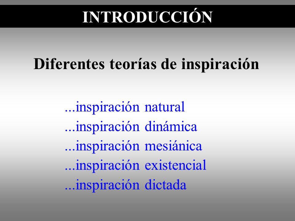 Diferentes teorías de inspiración