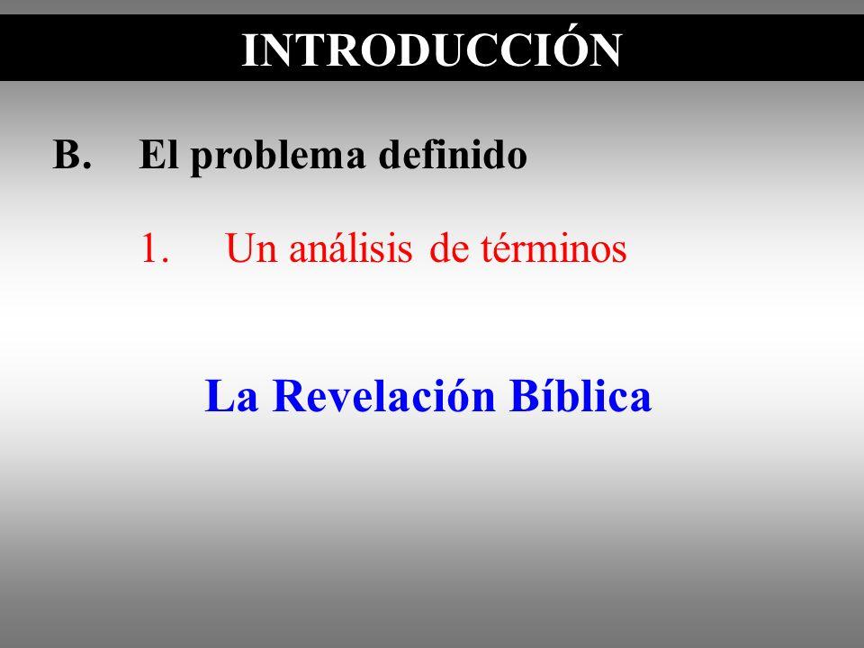 INTRODUCCIÓN La Revelación Bíblica