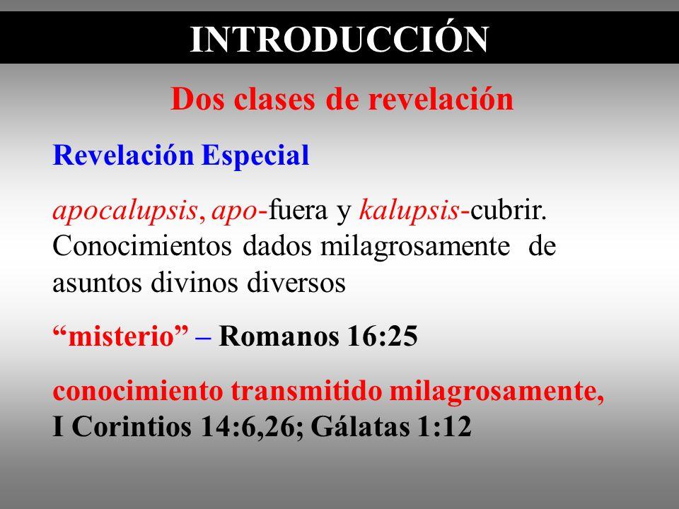 Dos clases de revelación