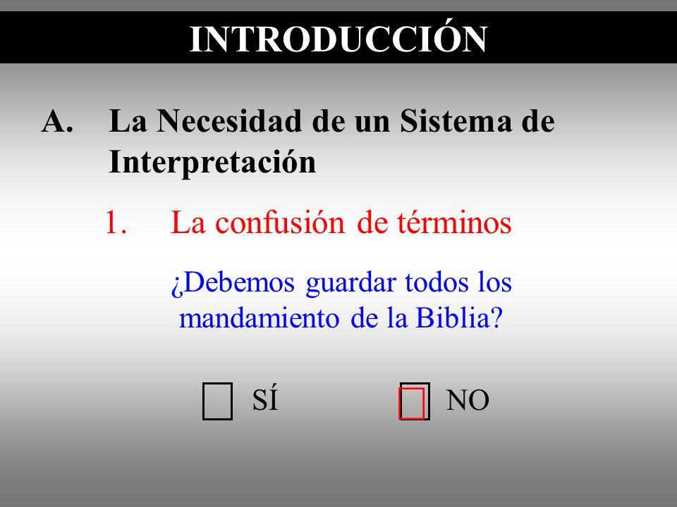 ¿Debemos guardar todos los mandamiento de la Biblia