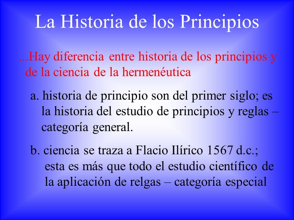 La Historia de los Principios