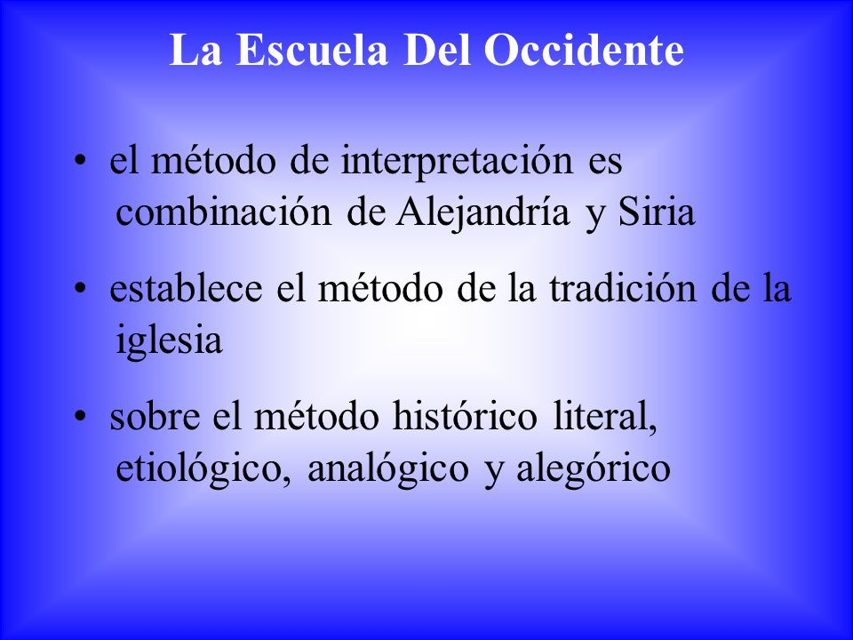La Escuela Del Occidente