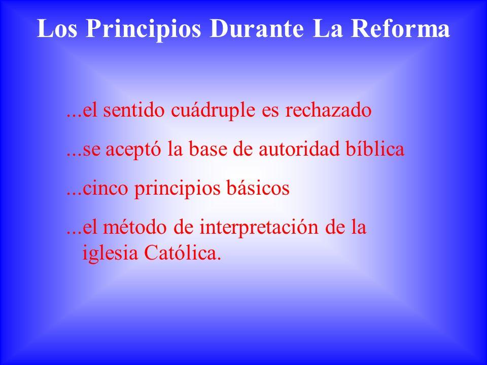 Los Principios Durante La Reforma