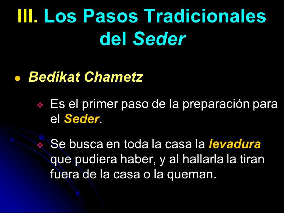 III. Los Pasos Tradicionales del Seder