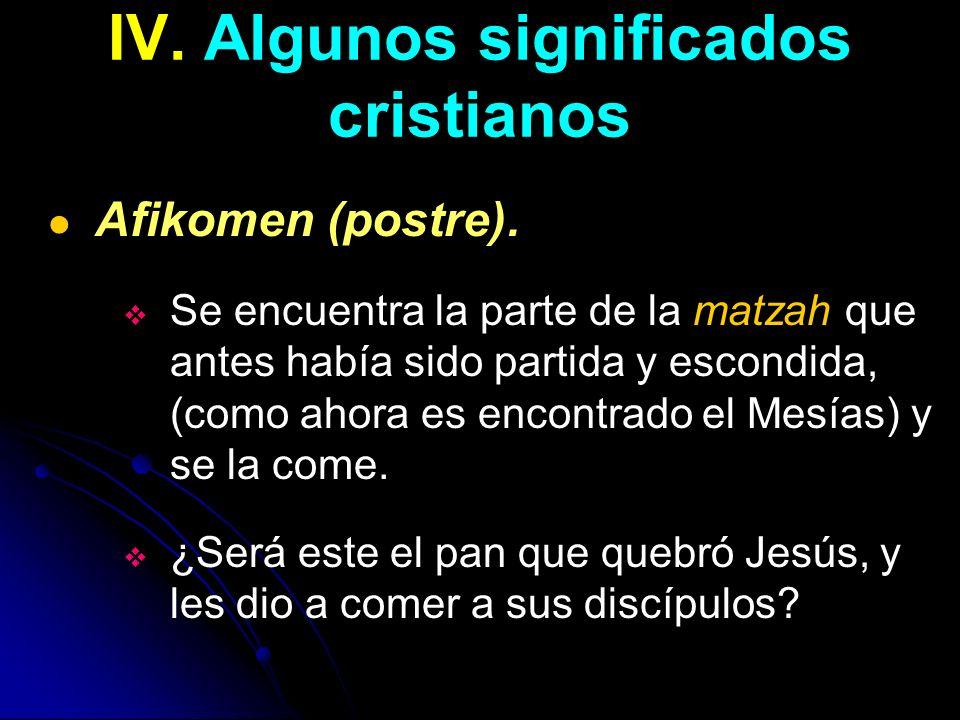 IV. Algunos significados cristianos