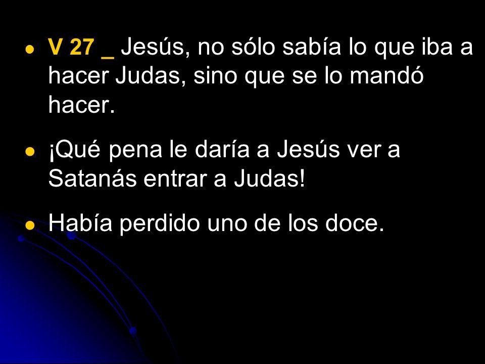 ¡Qué pena le daría a Jesús ver a Satanás entrar a Judas!