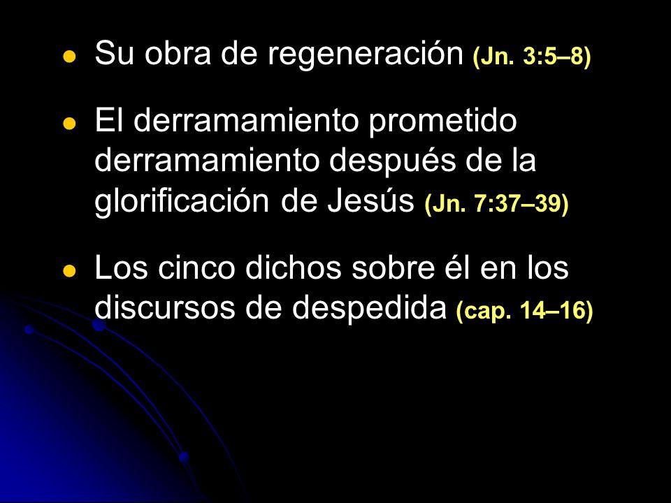 Su obra de regeneración (Jn. 3:5–8)
