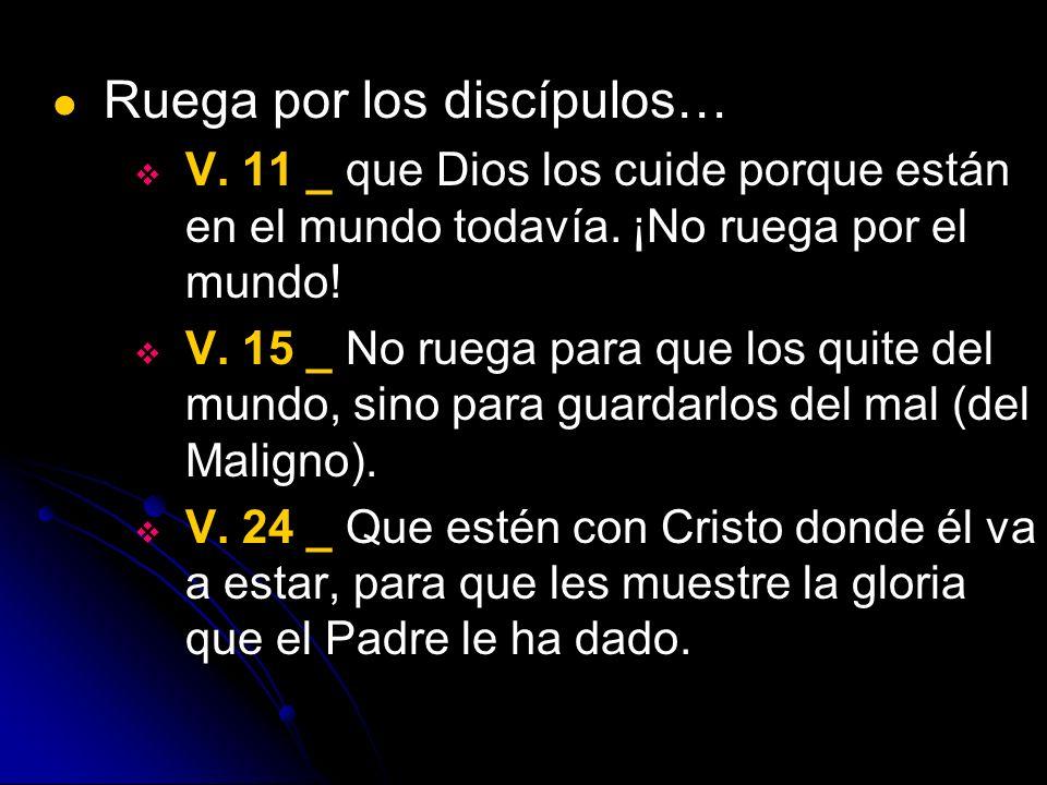 Ruega por los discípulos…