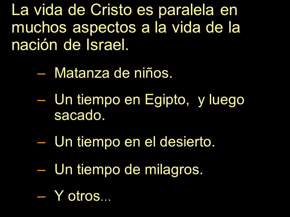 La vida de Cristo es paralela en muchos aspectos a la vida de la nación de Israel.