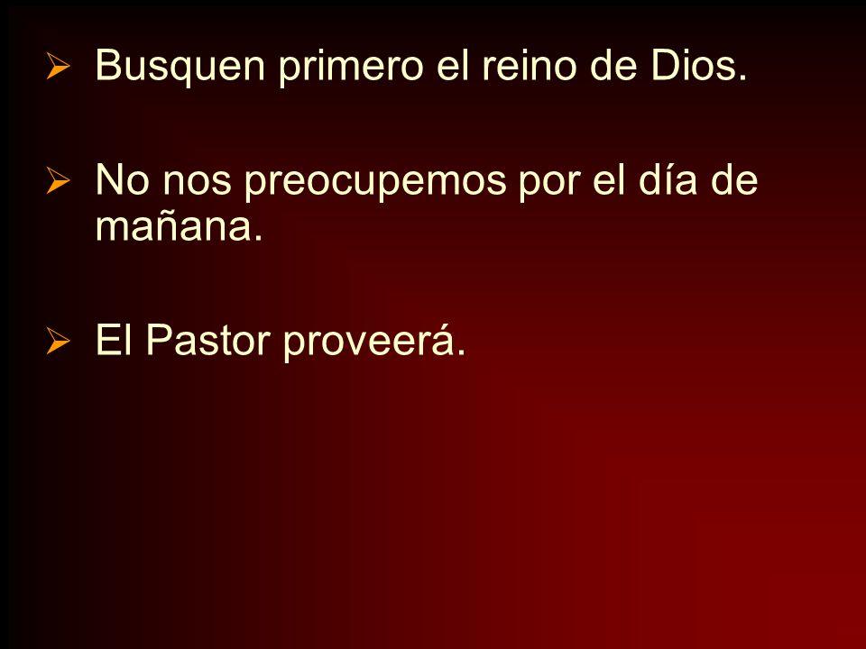 Busquen primero el reino de Dios.