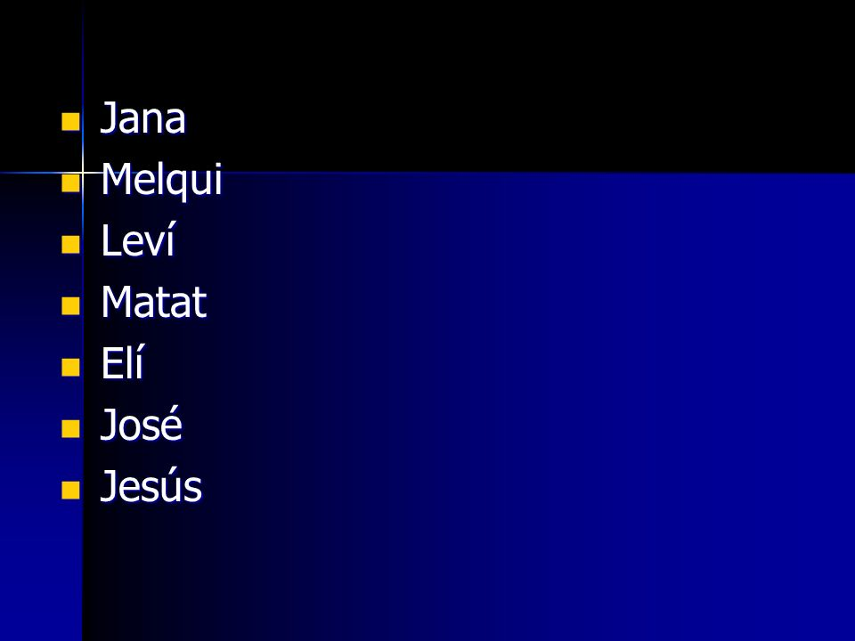 Jana Melqui Leví Matat Elí José Jesús