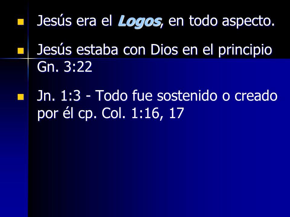 Jesús era el Logos, en todo aspecto.
