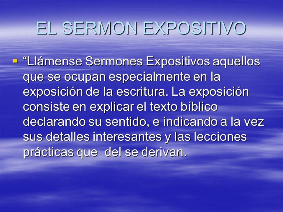 EL SERMON EXPOSITIVO