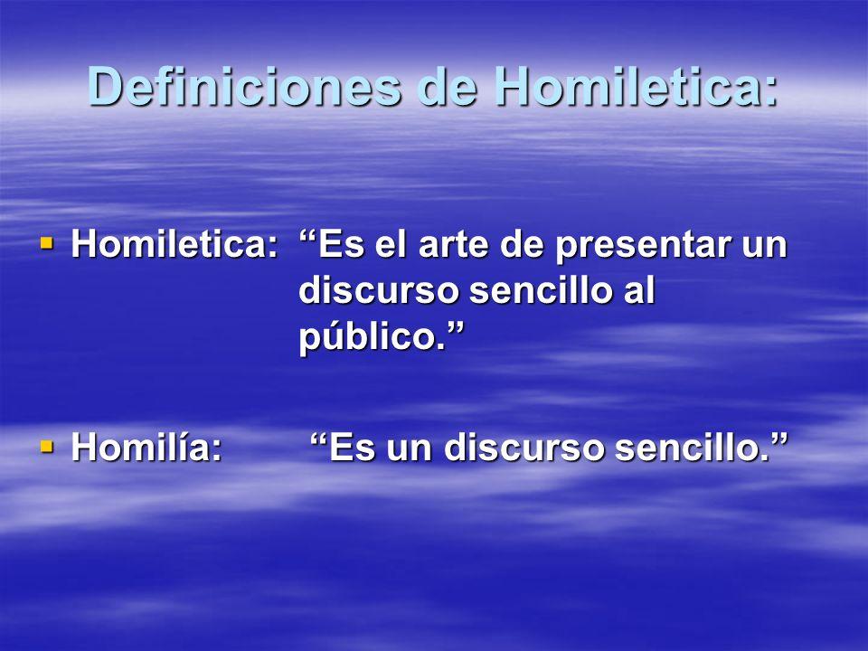 Definiciones de Homiletica: