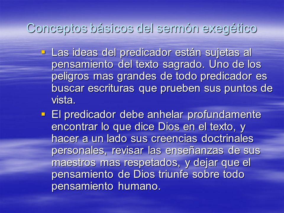Conceptos básicos del sermón exegético
