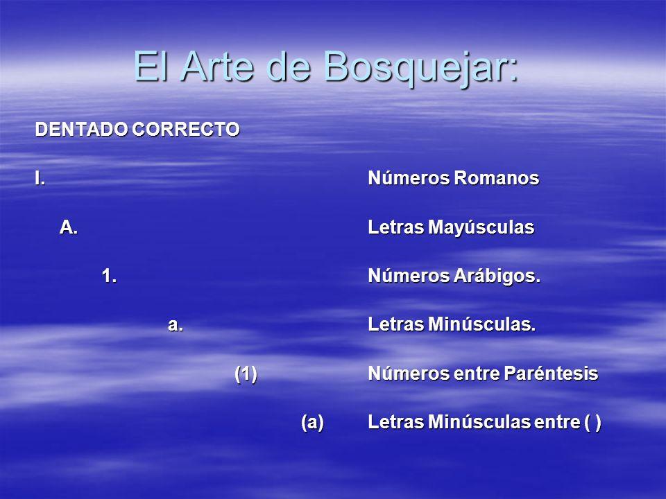 El Arte de Bosquejar: DENTADO CORRECTO I. Números Romanos