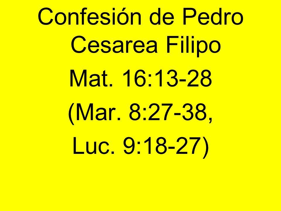 Confesión de Pedro Cesarea Filipo
