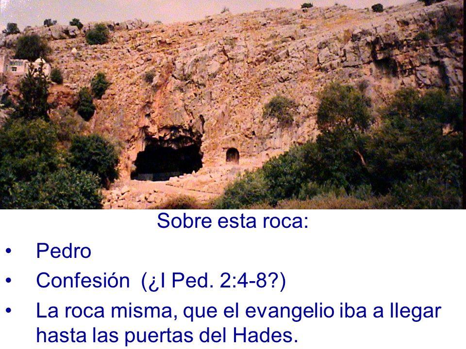 Sobre esta roca: Pedro. Confesión (¿I Ped.