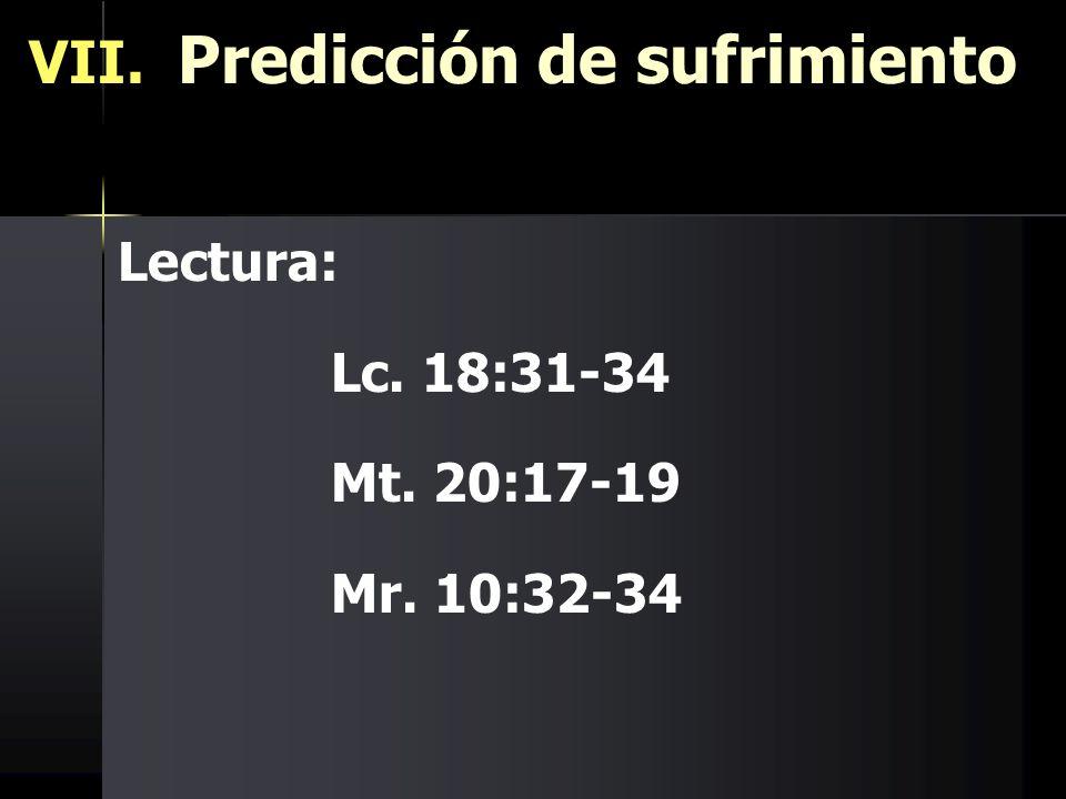 VII. Predicción de sufrimiento