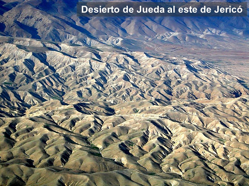 Judean Wilderness west of Jericho aerial