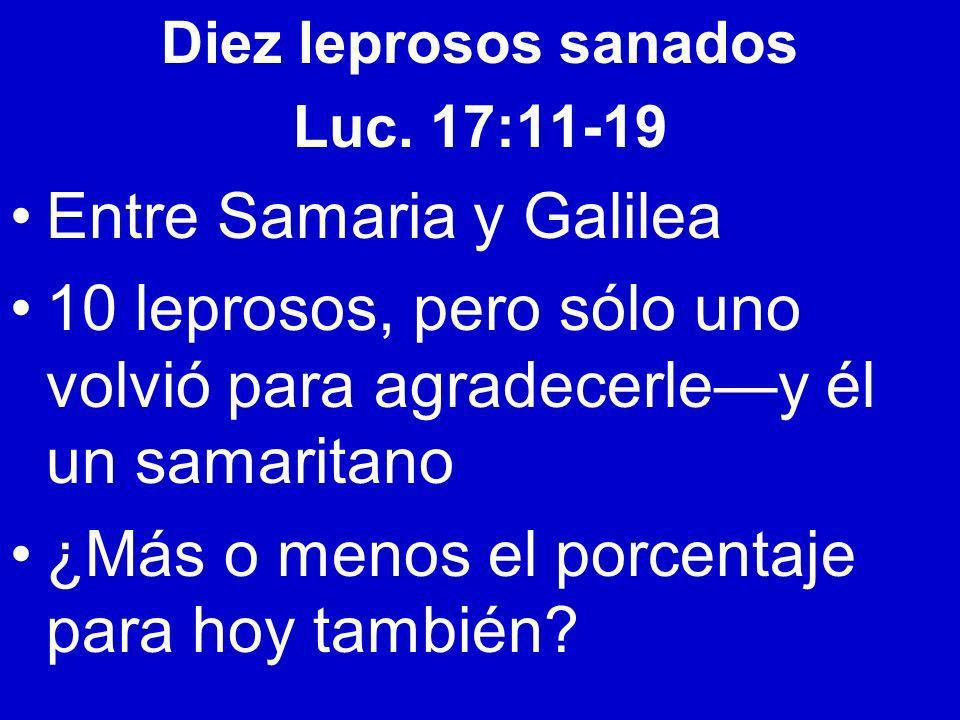 Entre Samaria y Galilea