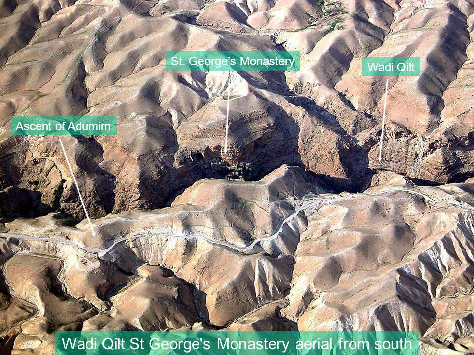 Wadi Qilt St George s Monastery aerial from south