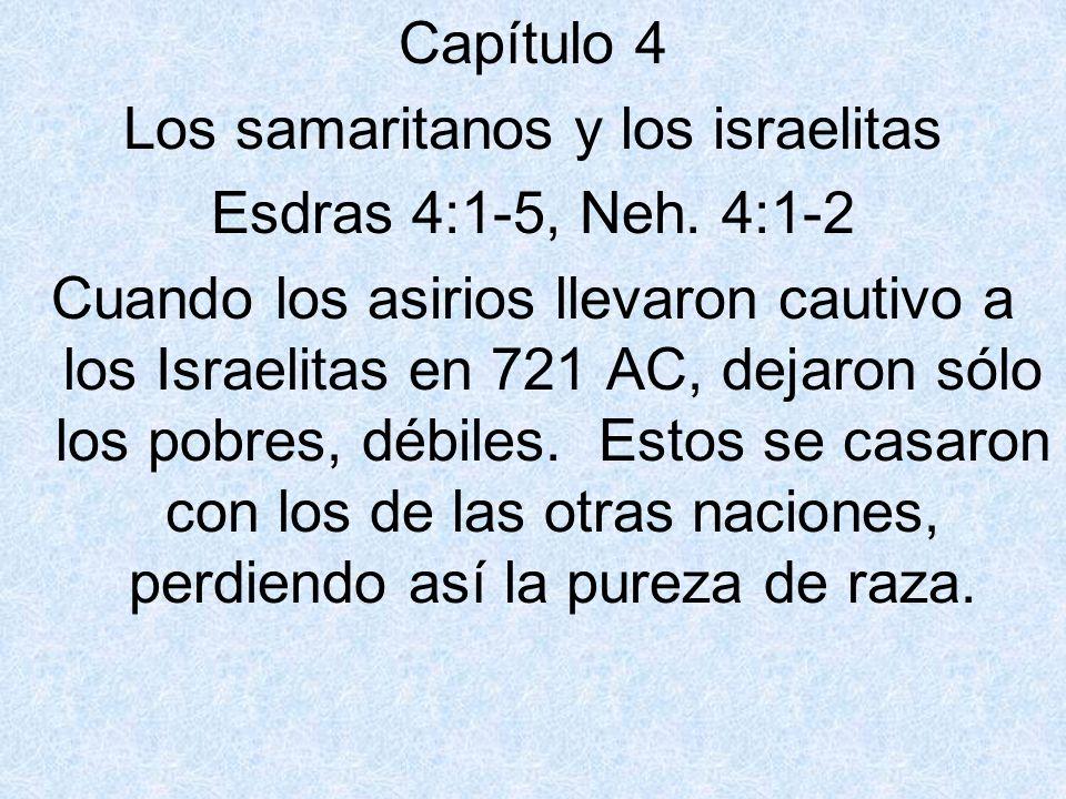 Los samaritanos y los israelitas