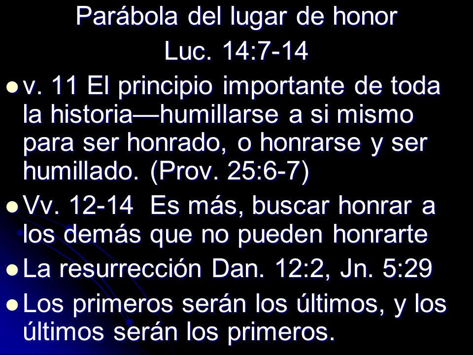 Parábola del lugar de honor