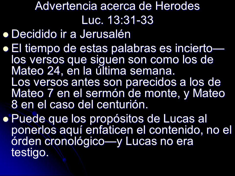 Advertencia acerca de Herodes