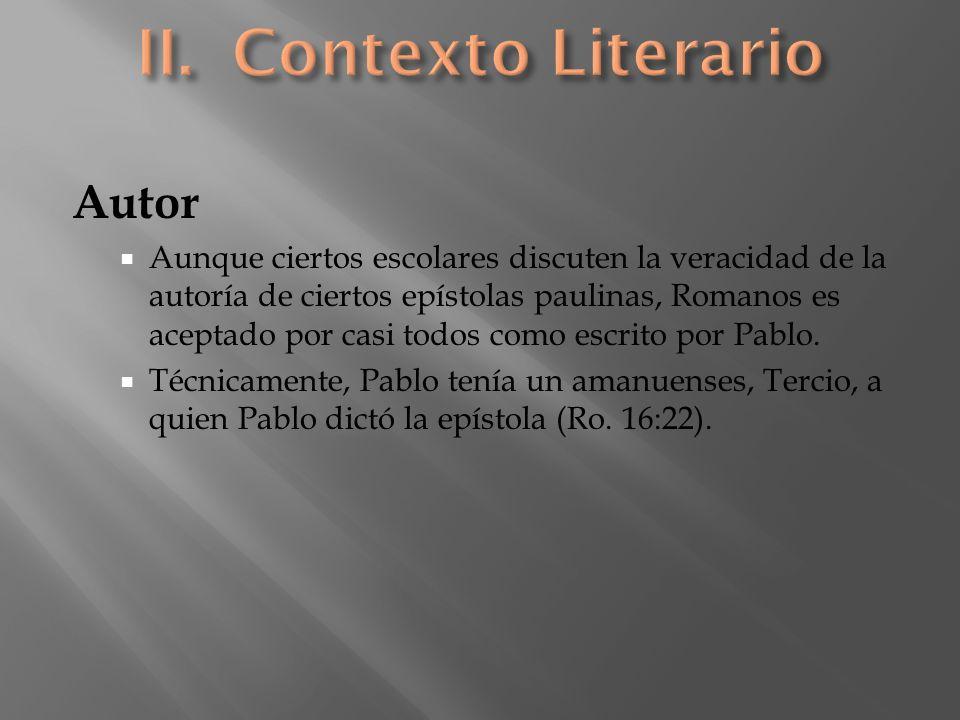 II. Contexto Literario Autor