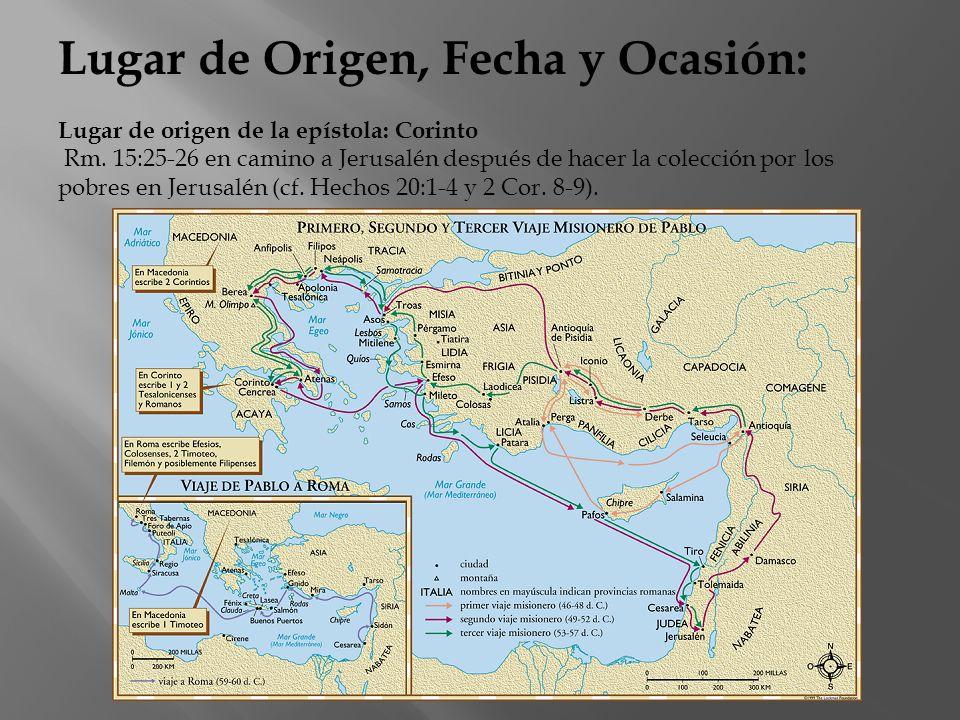Lugar de Origen, Fecha y Ocasión: