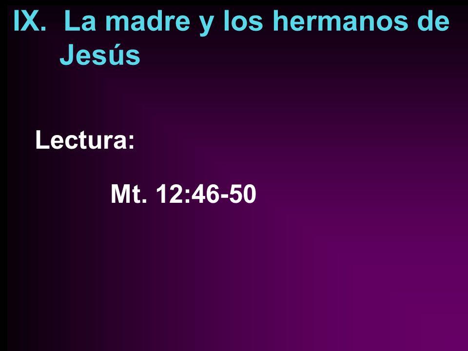 IX. La madre y los hermanos de Jesús