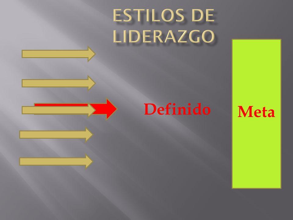 Estilos de Liderazgo Definido Meta