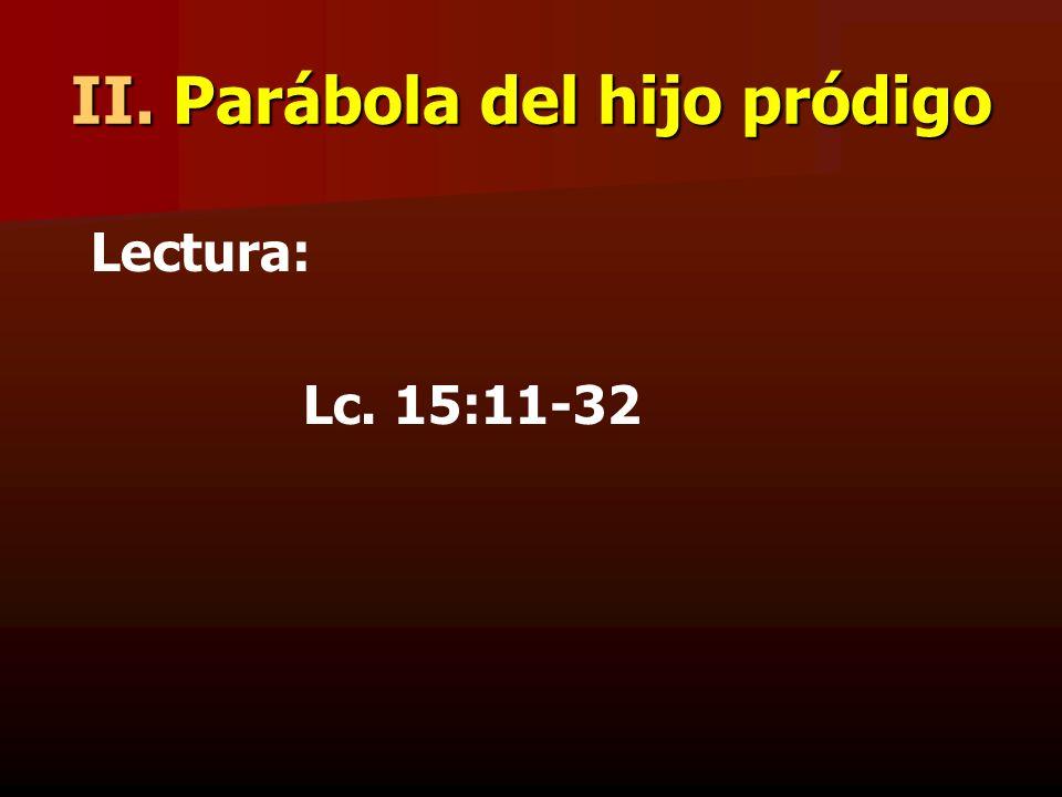 II. Parábola del hijo pródigo